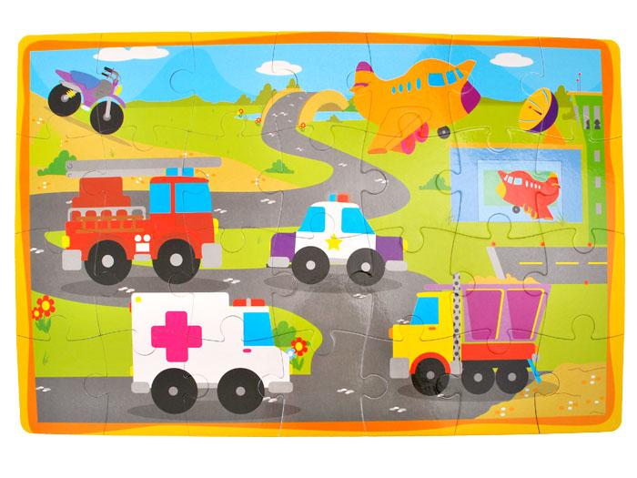 Piankowe miękkie puzzle zwierzątka autka ZA1389 Materiał Pianka