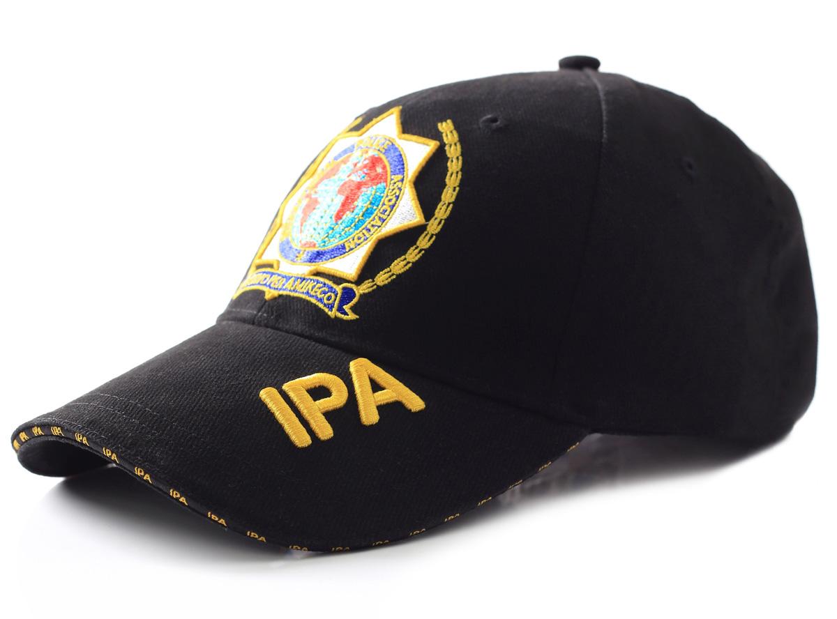 Baseball CAP 3d výšivky IPA 6 bar. Čierna
