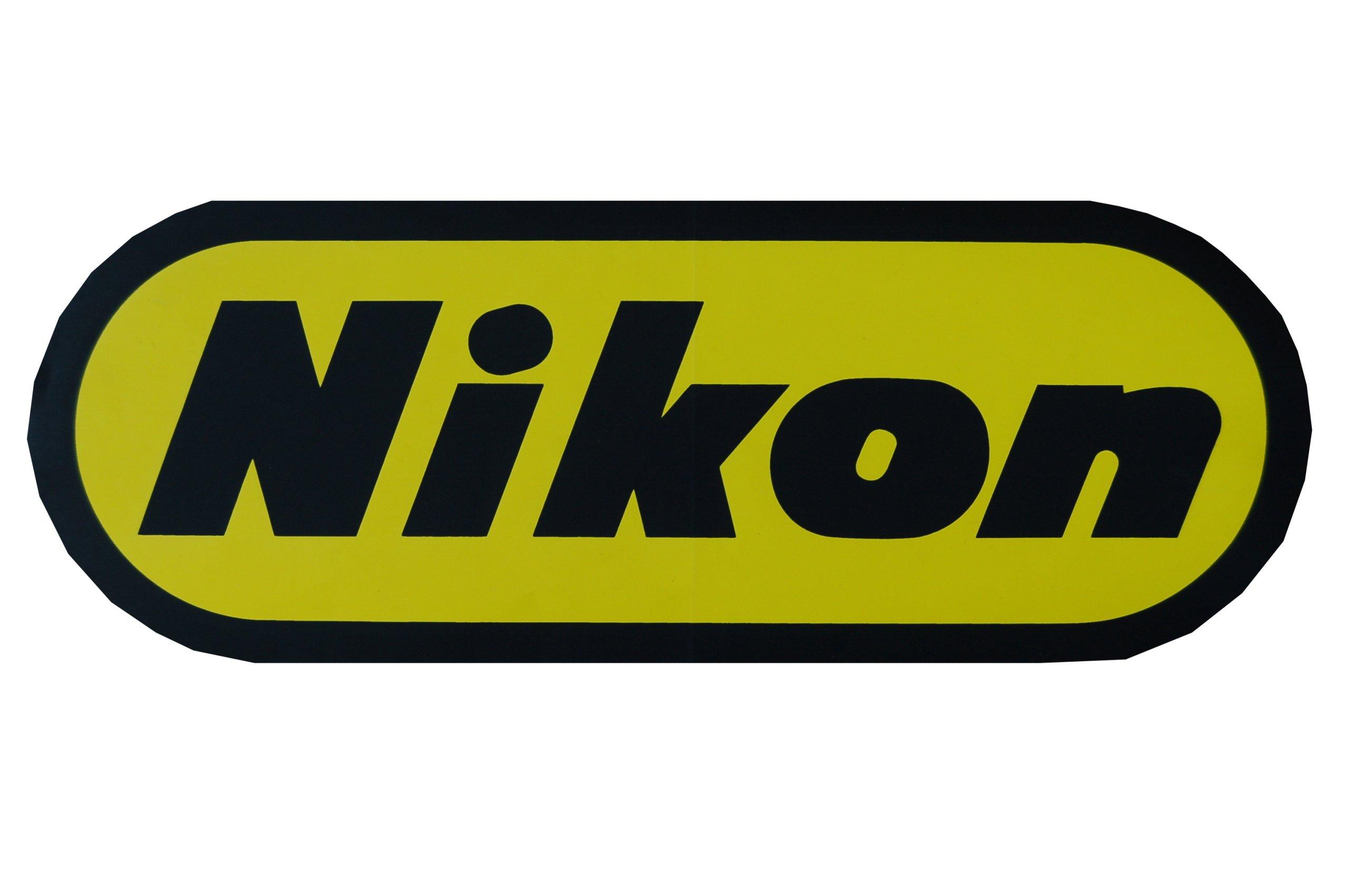 Veľké Nálepky Nikon Retro Vintage 32x12 cm