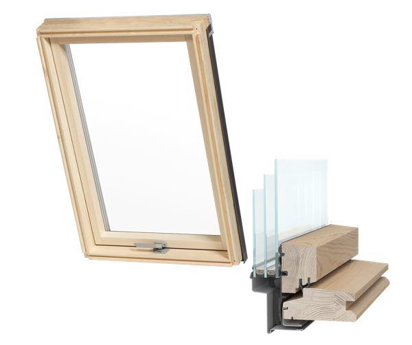 Мансардное окно 3-х оконное 78x118 AAY + фланец