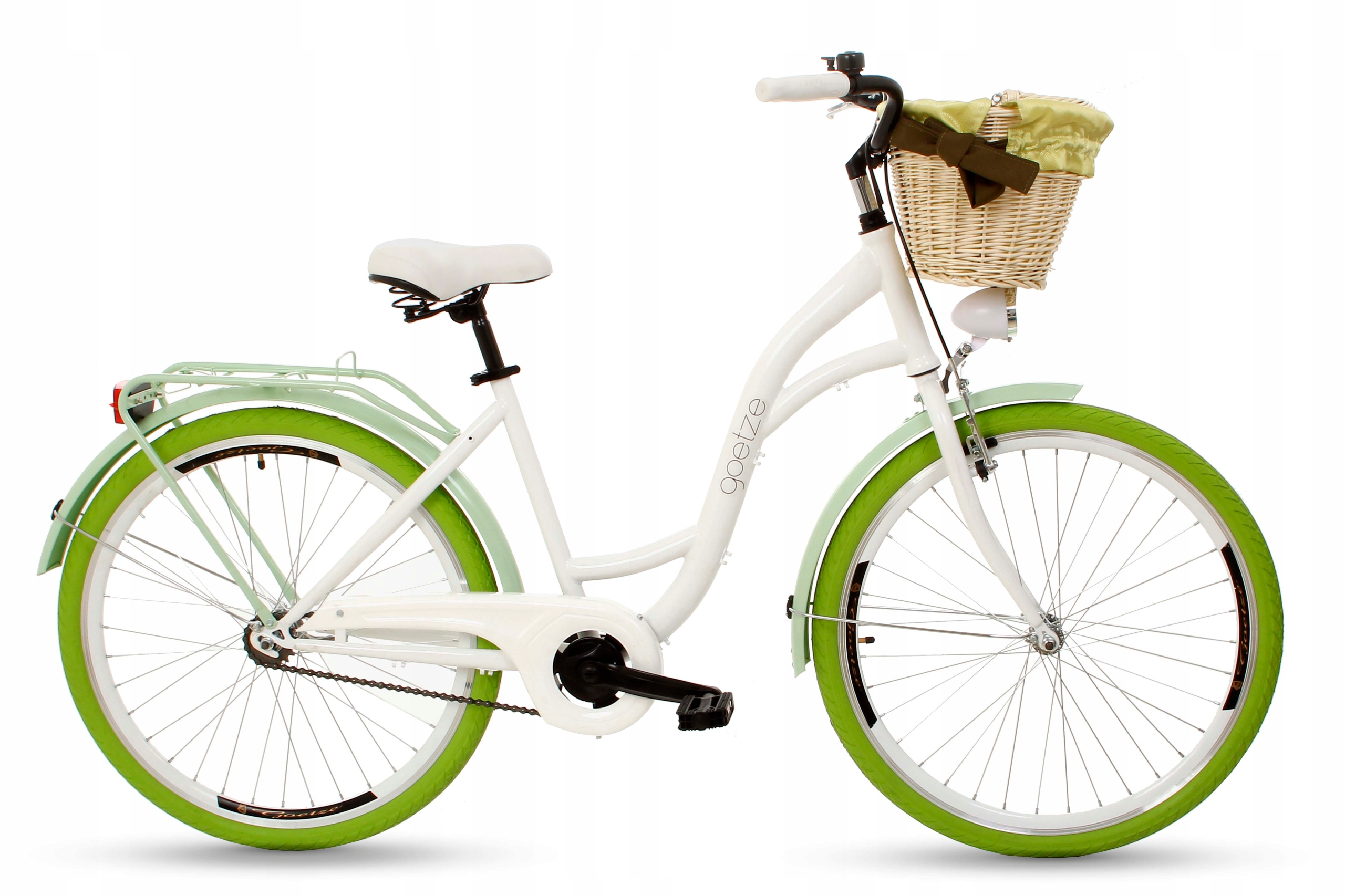 """Dámsky mestský bicykel Goetze COLORS 26 košík!  Veľkosť kolies ("""") 26"""