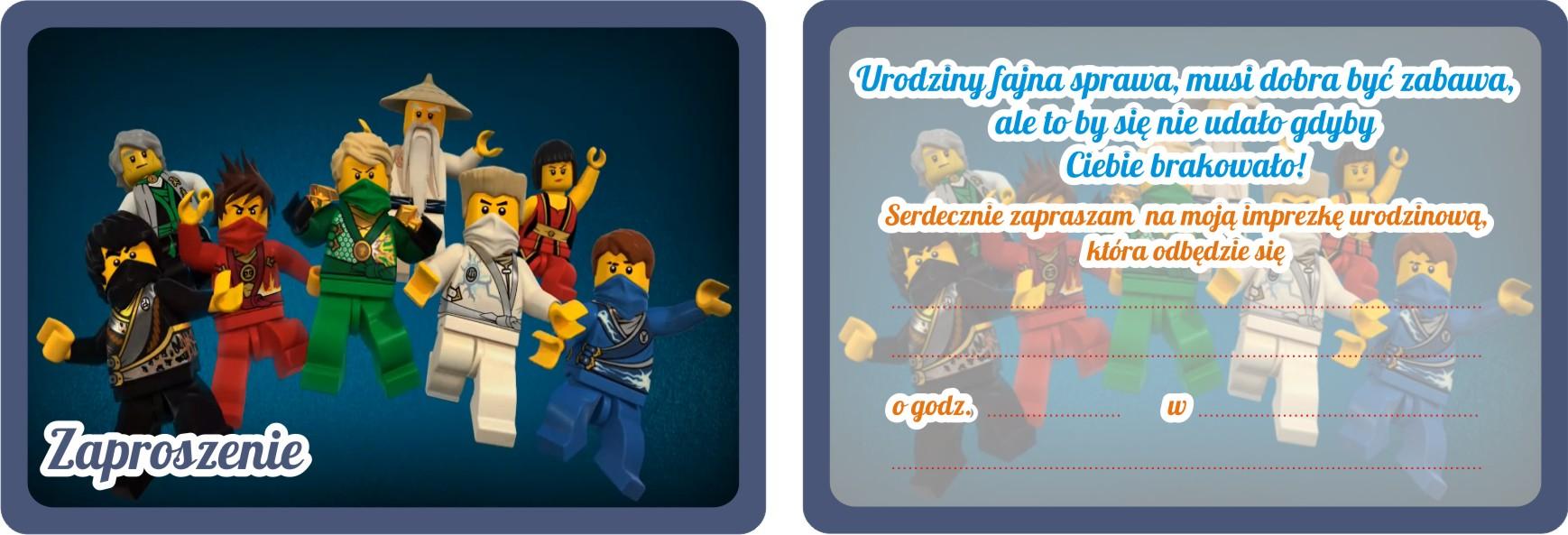 Zaproszenia Urodzinowe Dla Dzieci Lego Ninjago 7531692674 Allegropl