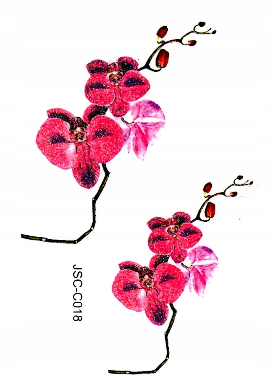 Kolorowe Tatuaże Zmywalne Kwiaty