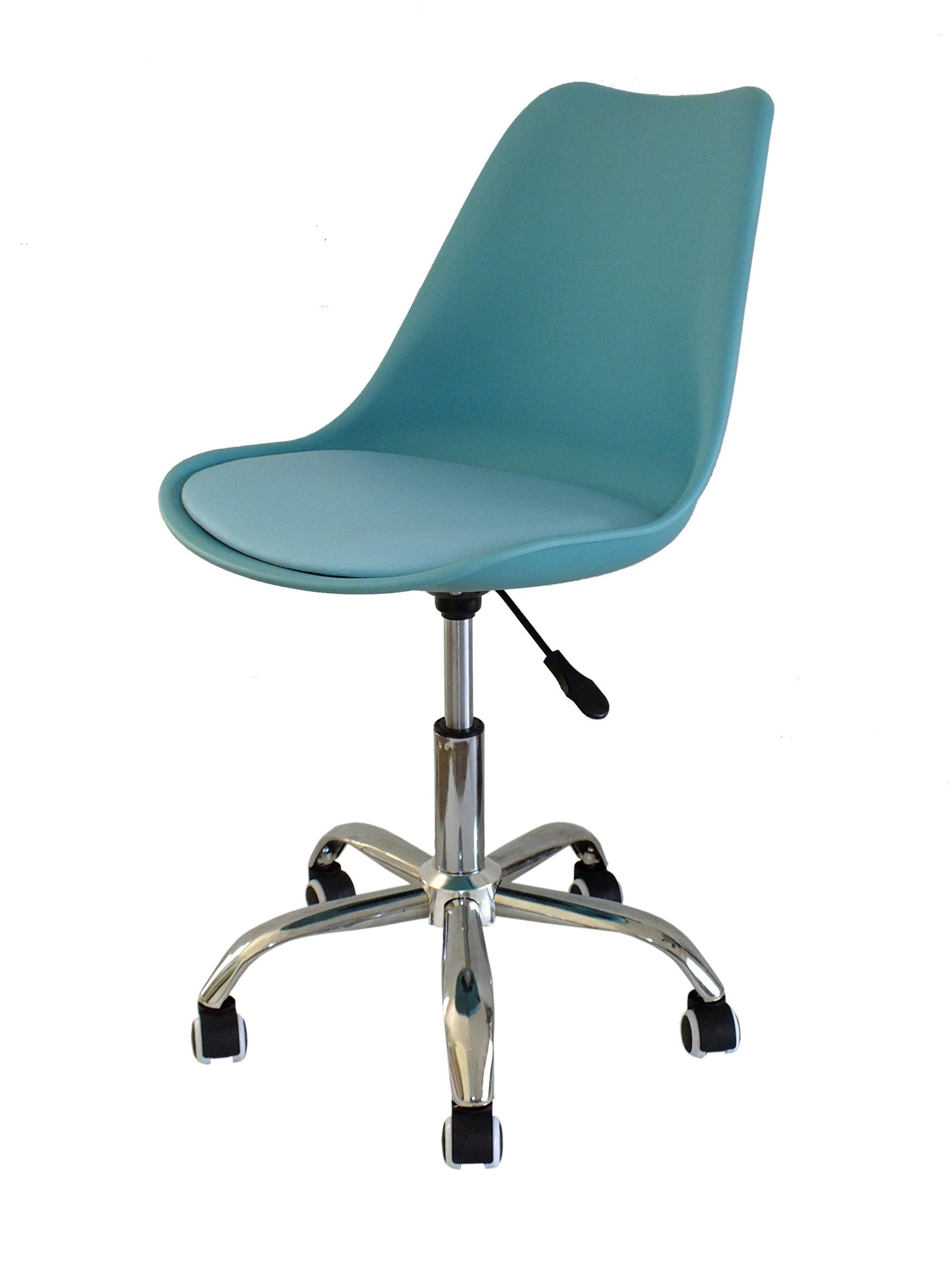 Rysunek CAD 2D Krzesło obrotowe na kółkach z