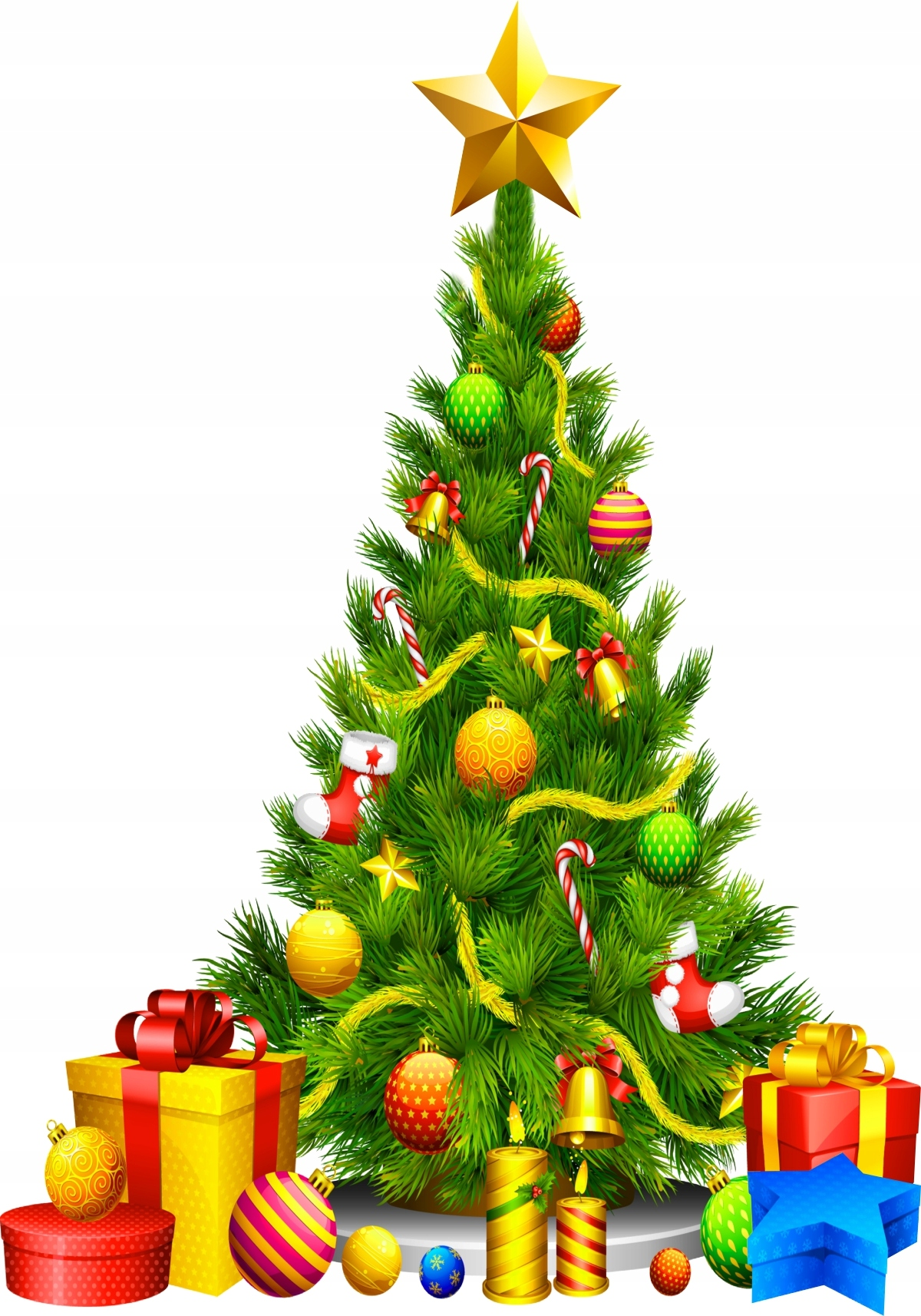 Naklejki świąteczne CHOINKI na szybę ŚCIANĘ 100cm