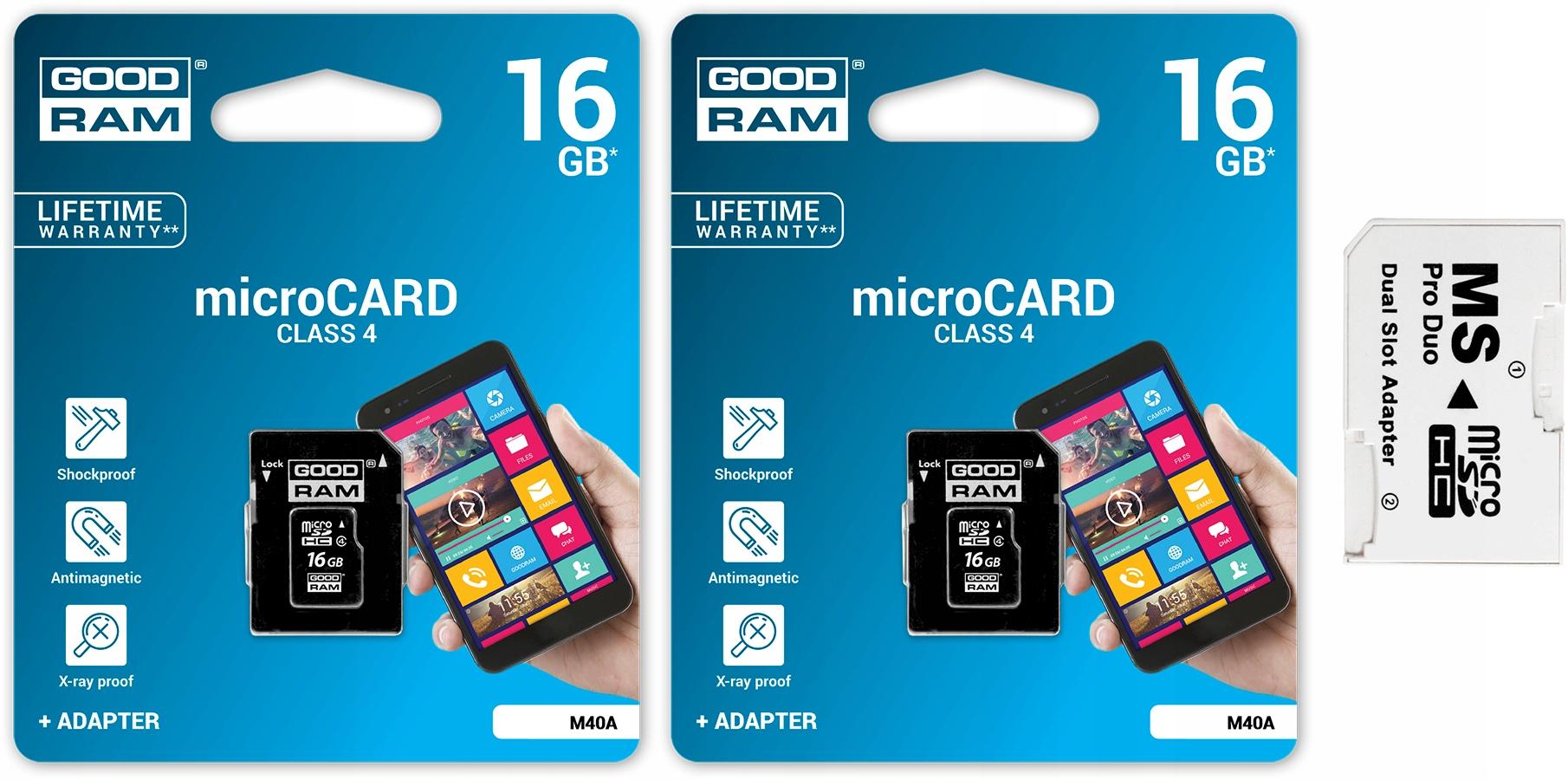 Goodram Micro SDHC 32GB + MS PRO DUO PSP Adaptér!