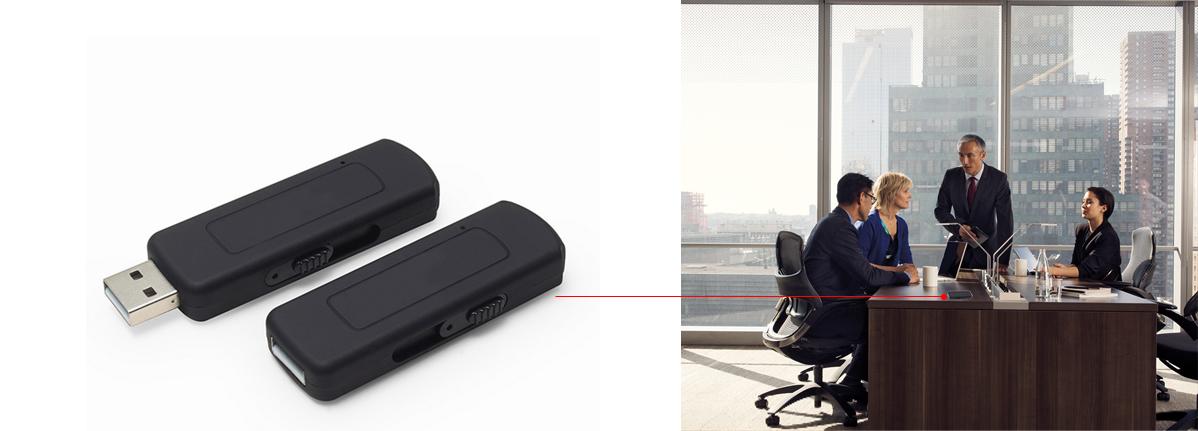 PENDRIVE DYKTAFON PODSŁUCH 8GB USB 16H DET. VOX ! Wbudowana pamięć 8 GB