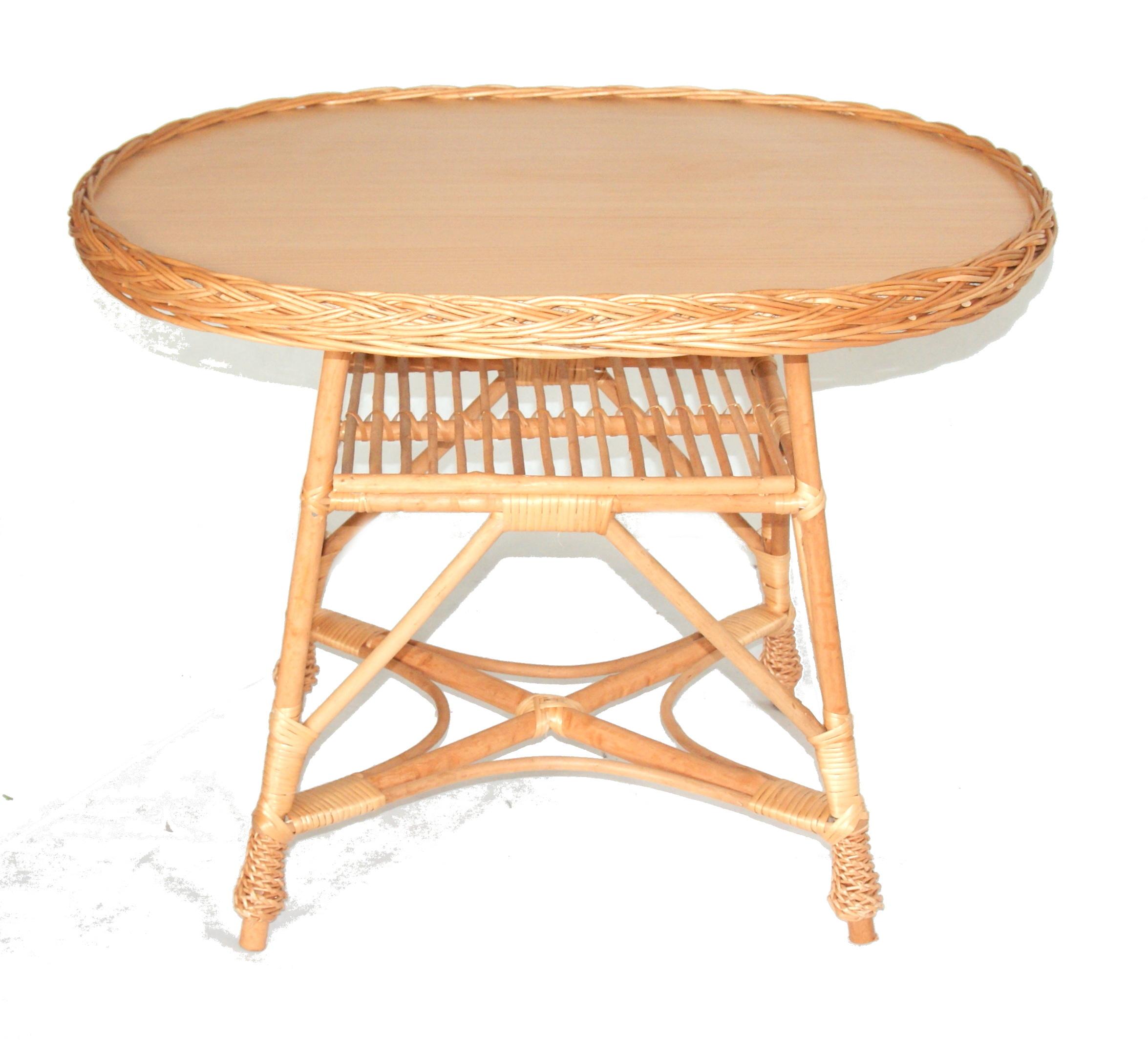 Prútený záhradný nábytok Prútený záhradný set Typ stola a stoličiek