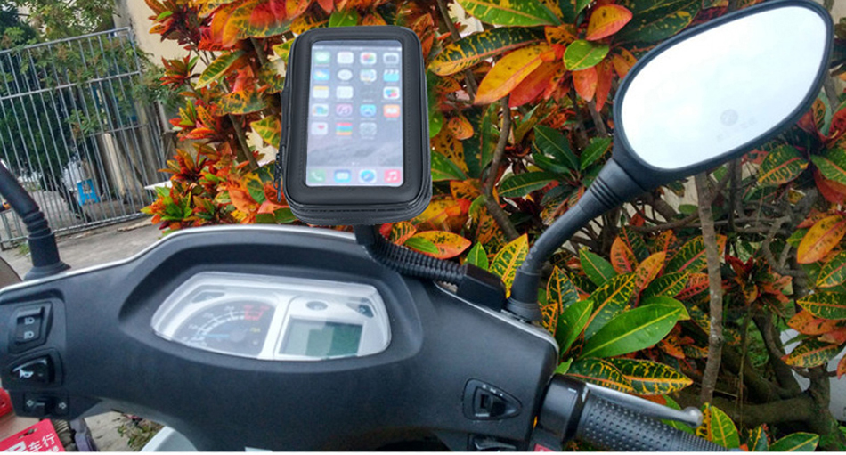 крепеж с etui на telefon motor скутер мотоцикл xl, фото