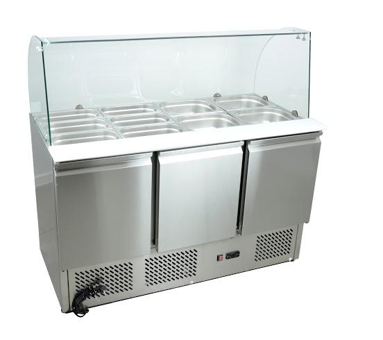 Šalátový chladiaci stôl s zastaraným 1365x700 392l