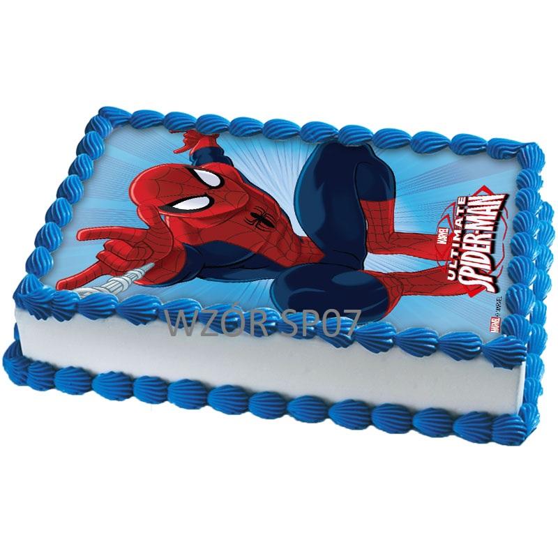 торт с сахарной картинкой человек паук фото предлагает снять