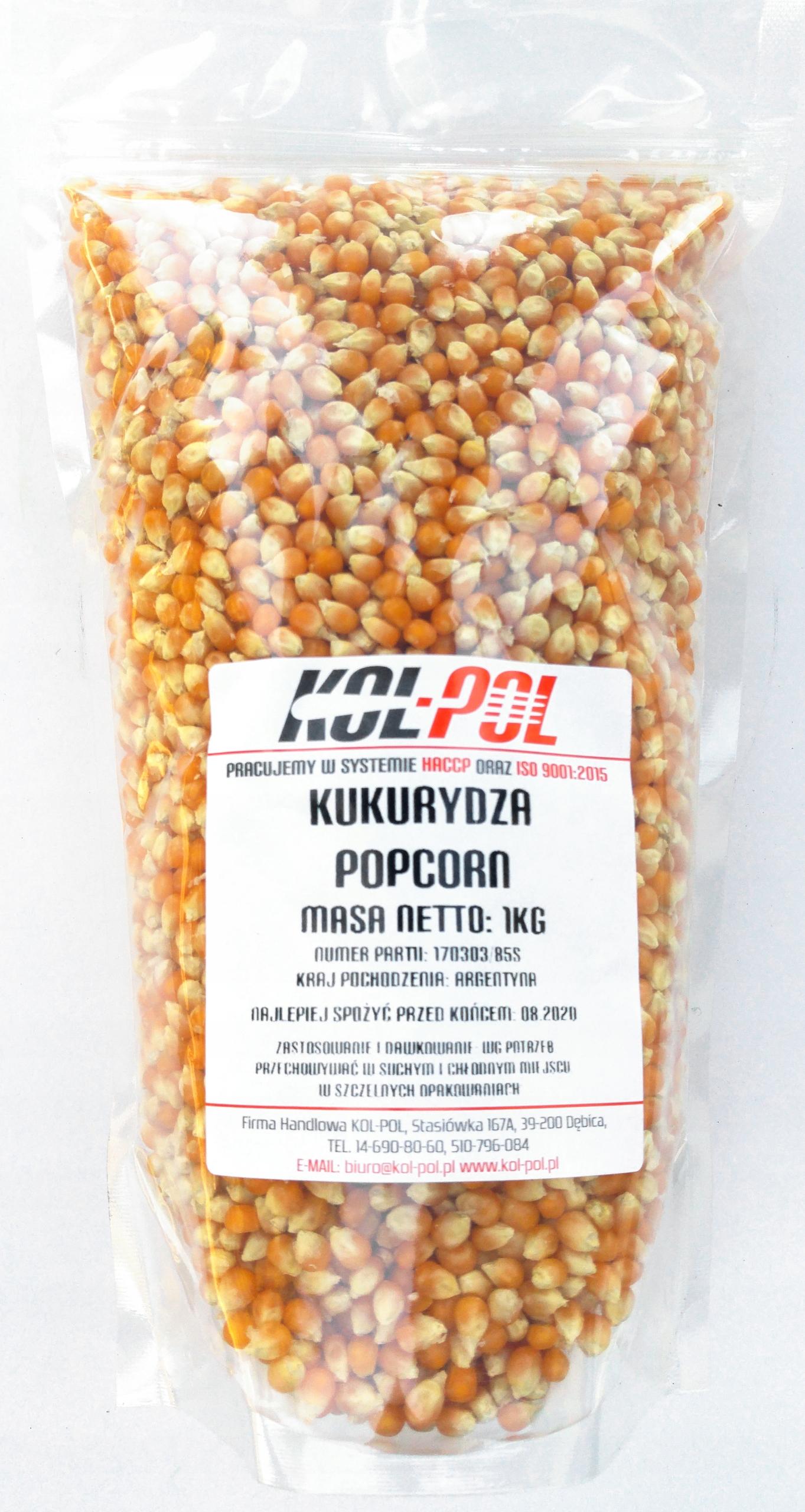 kukuricu popcorn zrna, soľ 25 kg VRECE