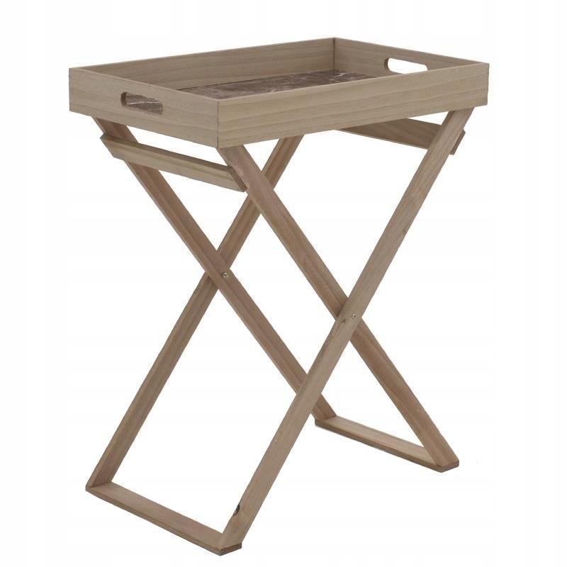 24 VINTAGE konferenčný STOLÍK konferenčný stolík asistenta s táckou drevené