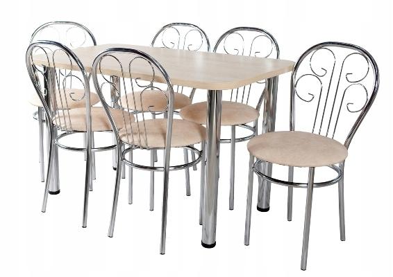 Kuchyňa nastaviť tabuľka 70X120 + 6 stoličiek Caesar
