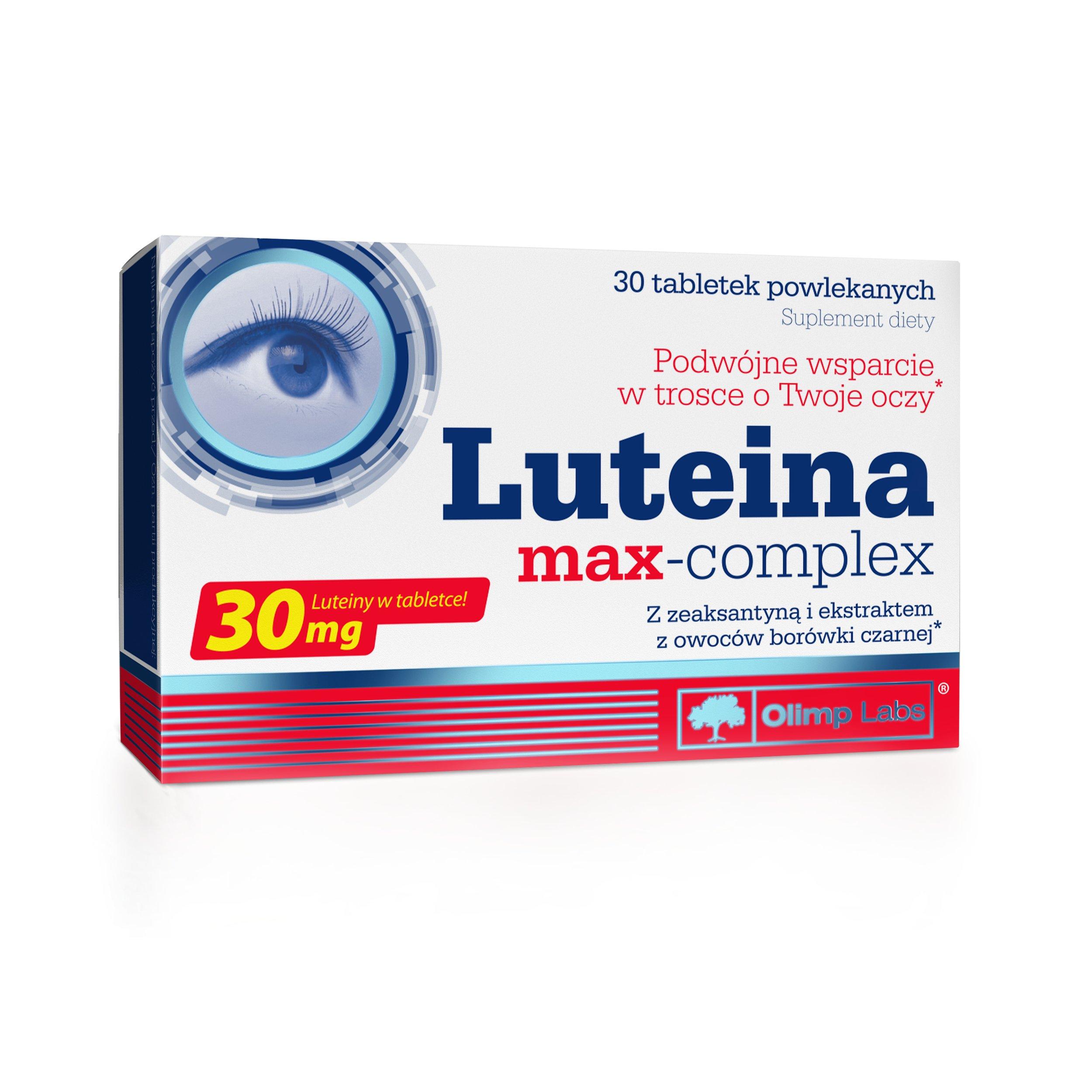 OLIMP LUTEINA MAX-COMPLEX 30tabl OCHRONA WZROKU