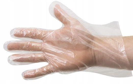 Пленочные пленки из полиэтилена высокой плотности с защитными перчатками 100 шт.