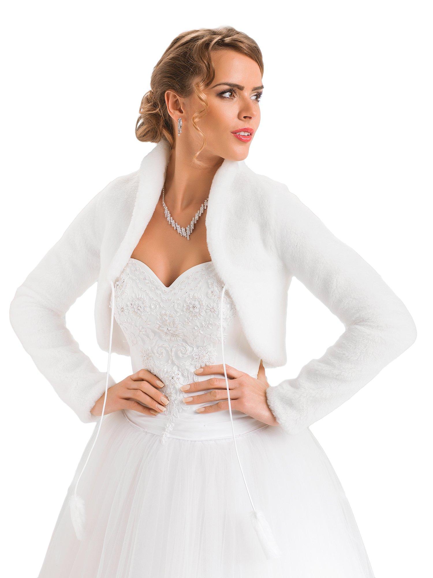 Купить Болеро свадебные искусственного меха зимние ВОЗМОЖНОСТЬ на Otpravka - цены и фото - доставка из Польши и стран Европы в Украину.