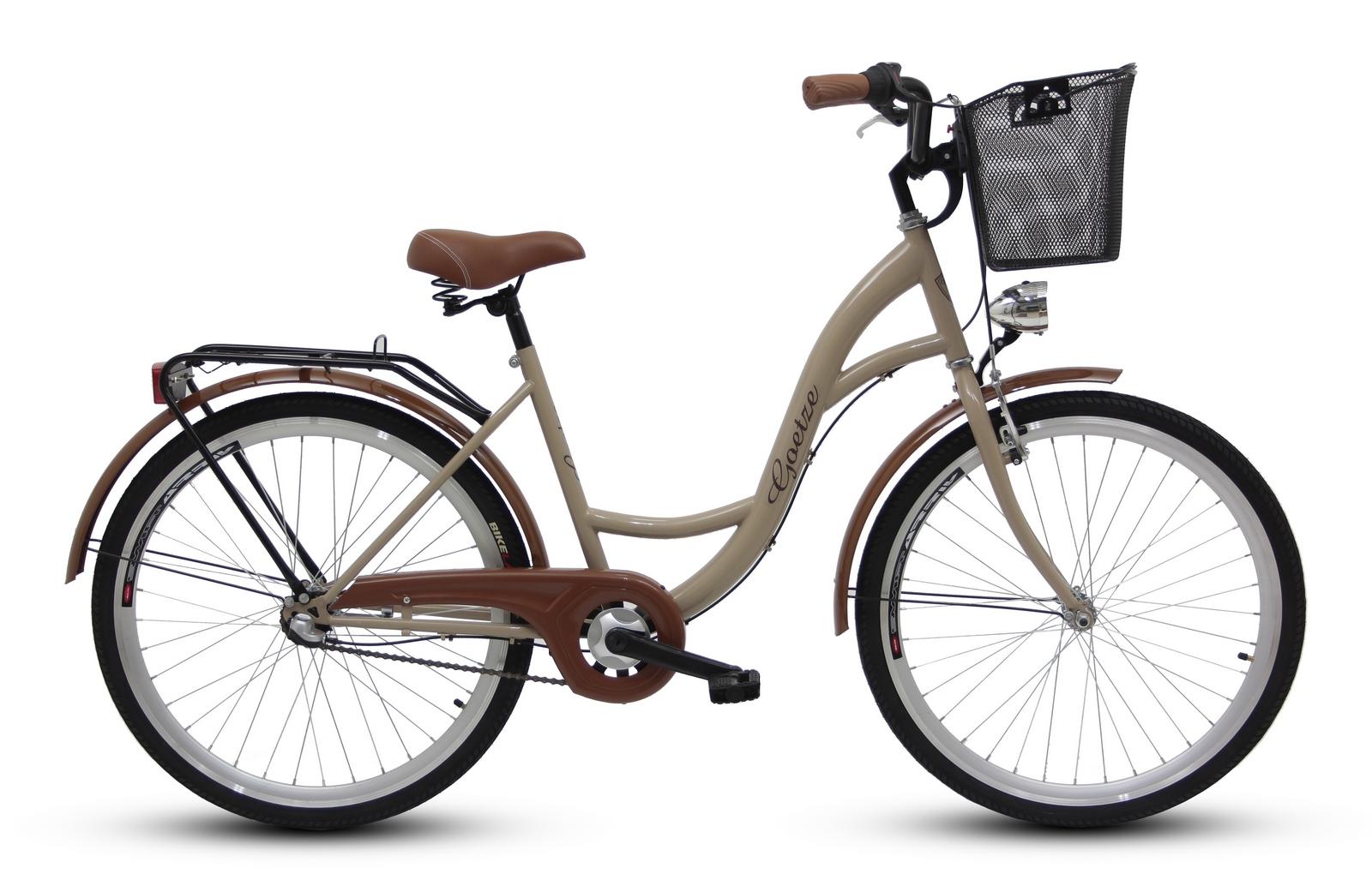 Dámsky mestský bicykel GOETZE 26, 3-rýchlostný kôš zadarmo!  Veľkosť rámu 17 palcov