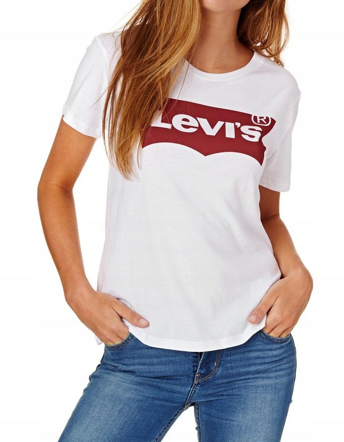 Levi's Levis damski t shirt koszulka XS 34 UNIKAT!