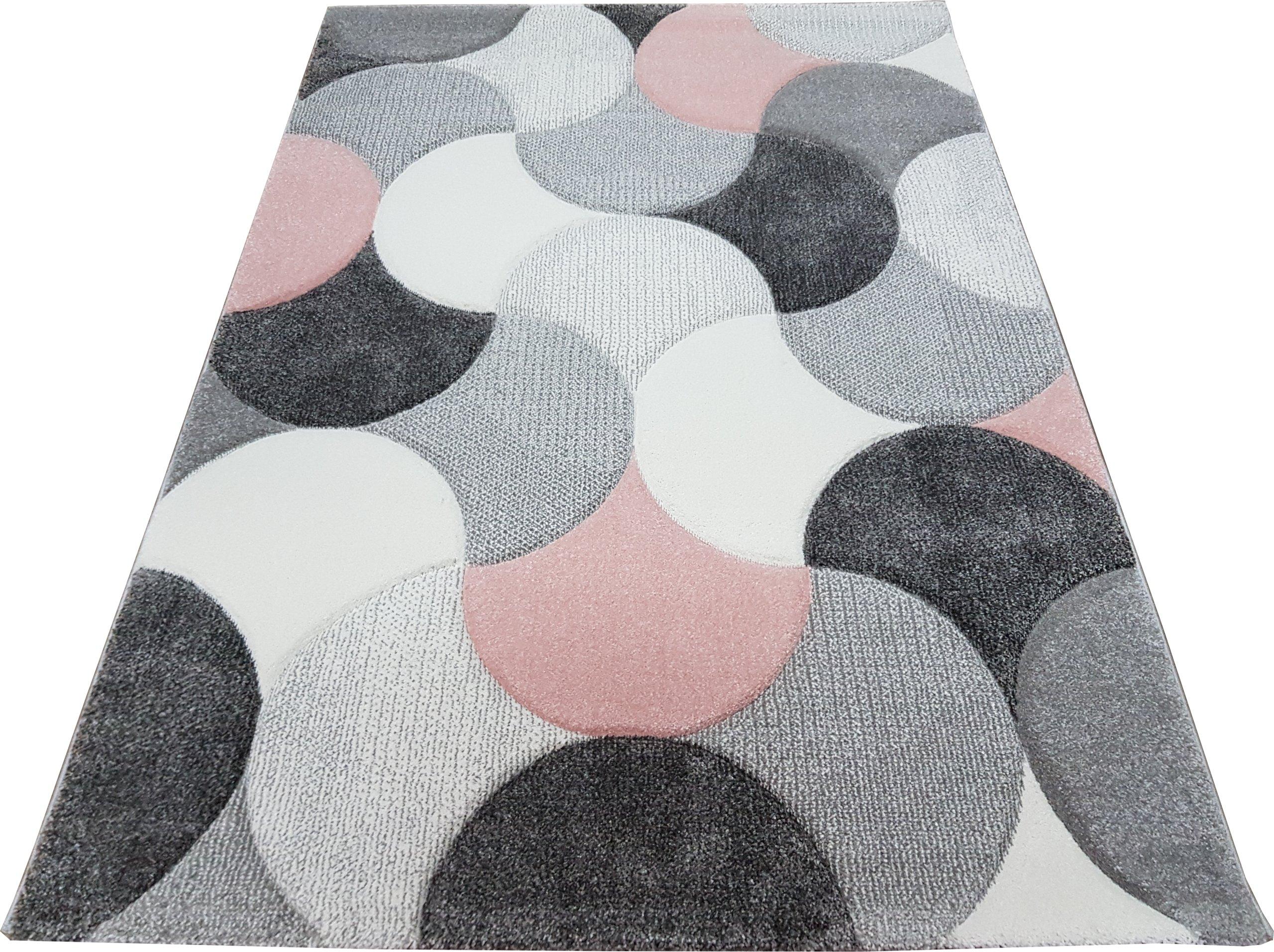 Koberec 3D DIAMOND koberec 80x150 vlna šedo-ružová BELIS