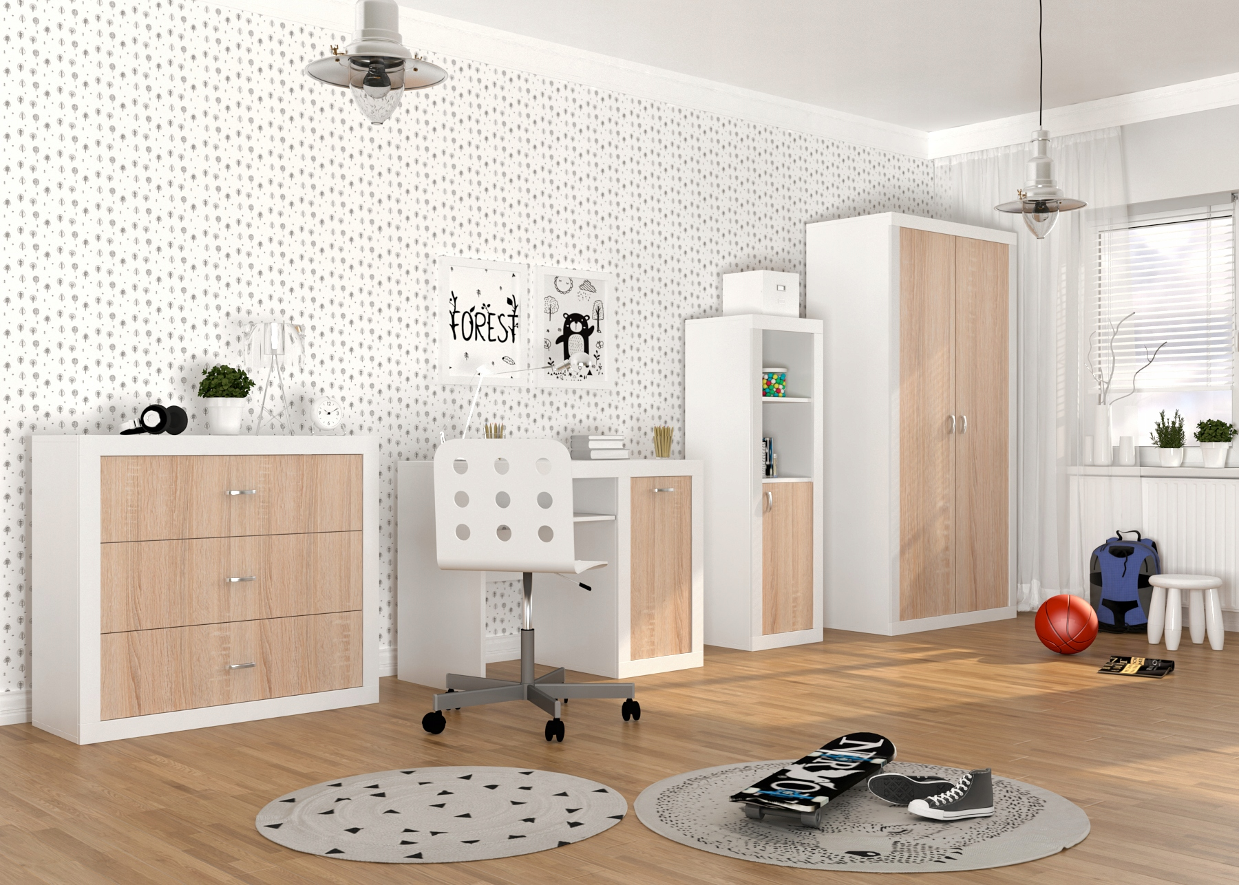 Набор детской мебели для молодежного набора FILIP