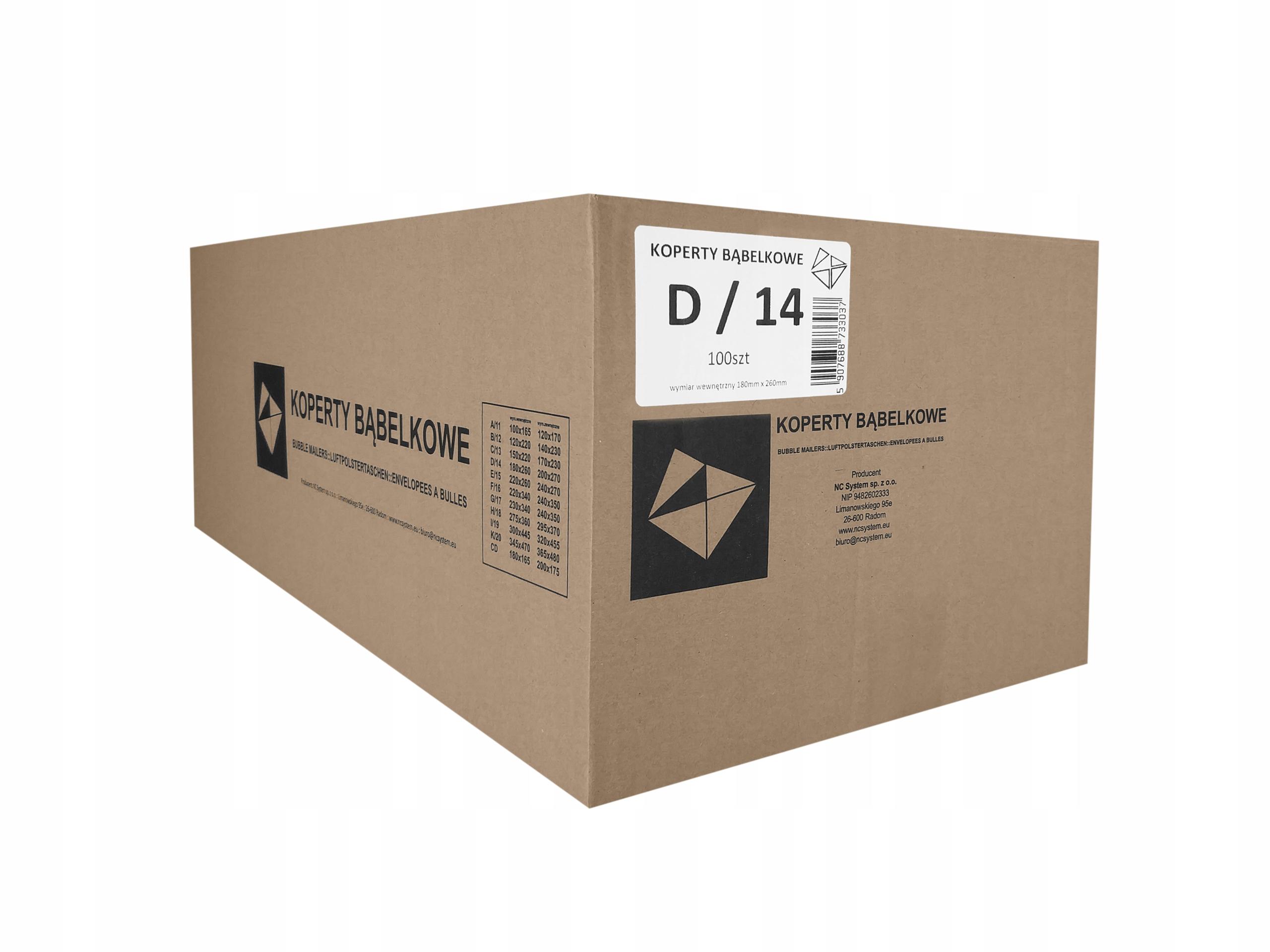 Item ENVELOPES BUBBLE AIR D14 D 14 14D 100pcs