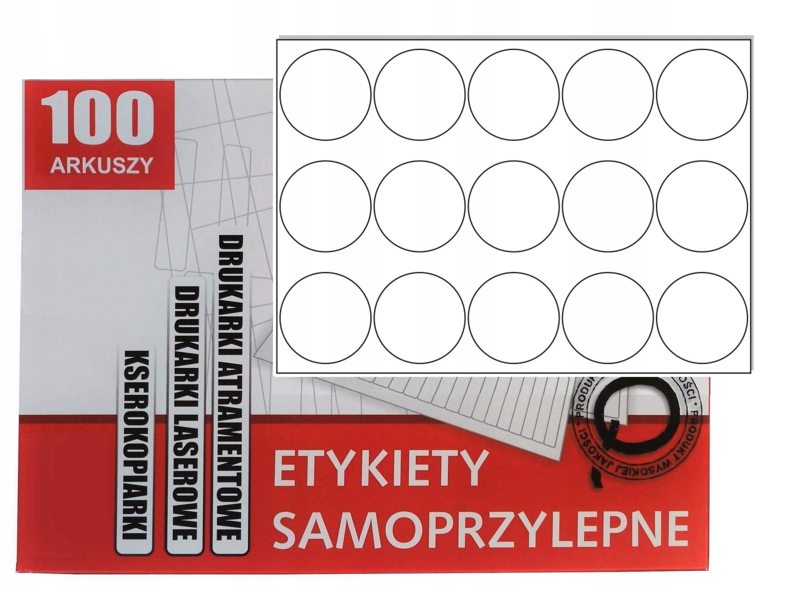 Samolepiace etikety Circle Fi 57 samolepky A4 / 100A