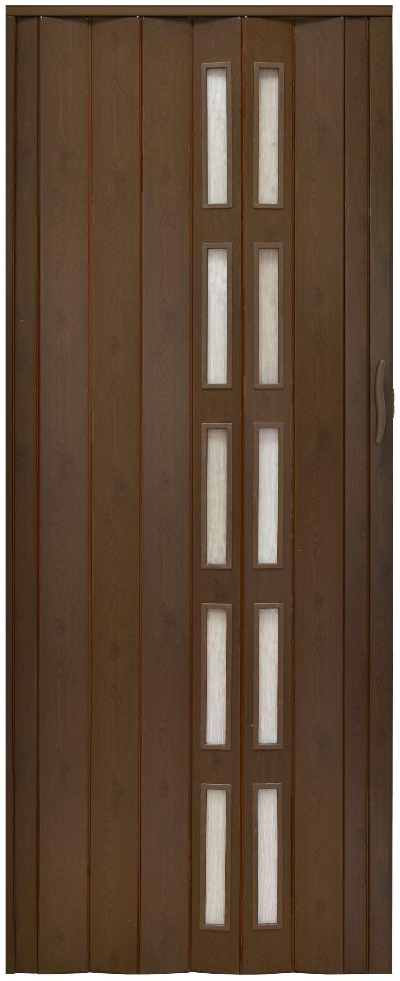 Drzwi Harmonijkowe Z Szybkami 005s 80 Cm Przesuwne 6684067500 Allegro Pl