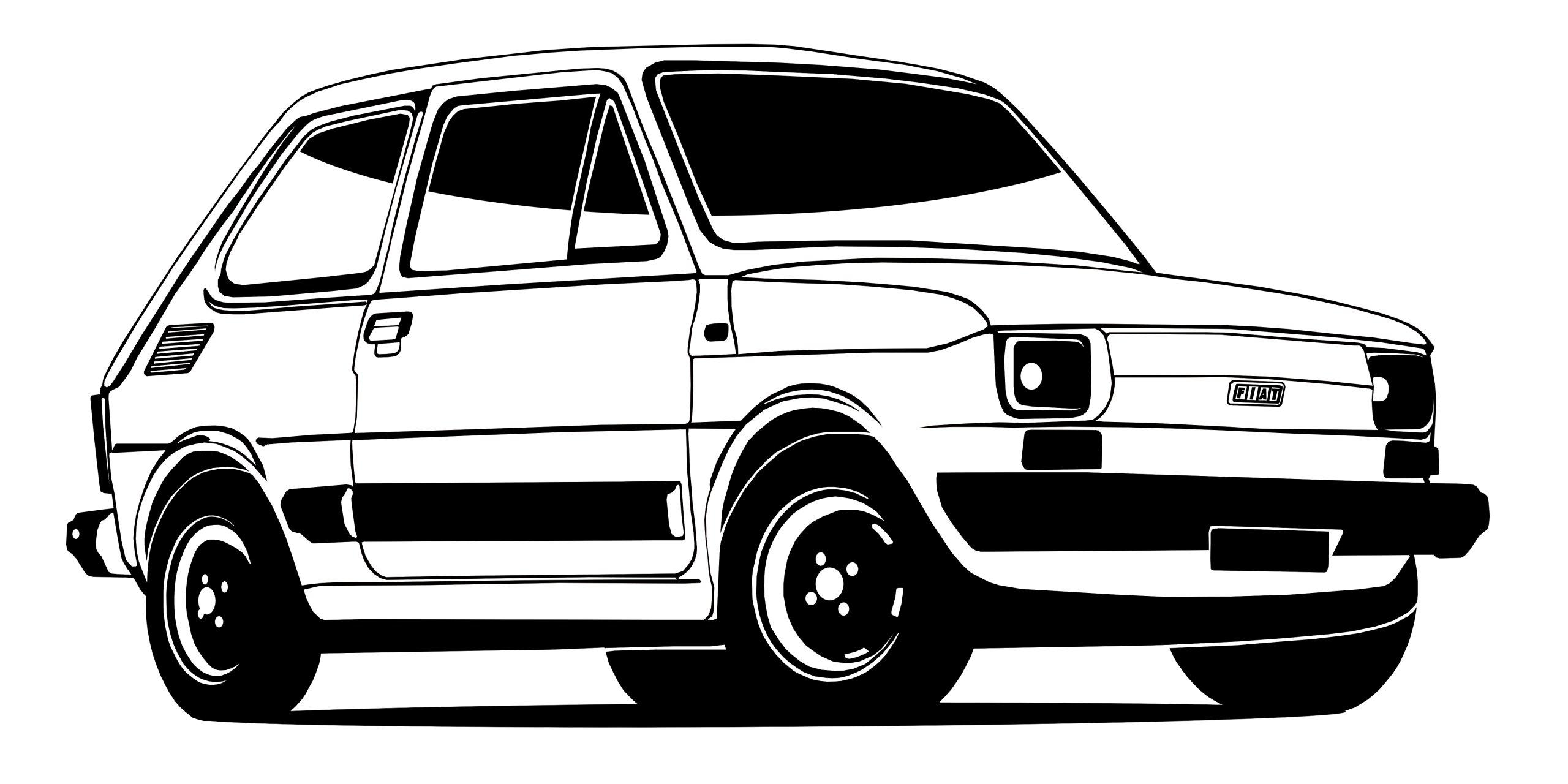 STENY ODTLAČKOVÝ FIAT 126P DIEŤA RETRO 50x100CM