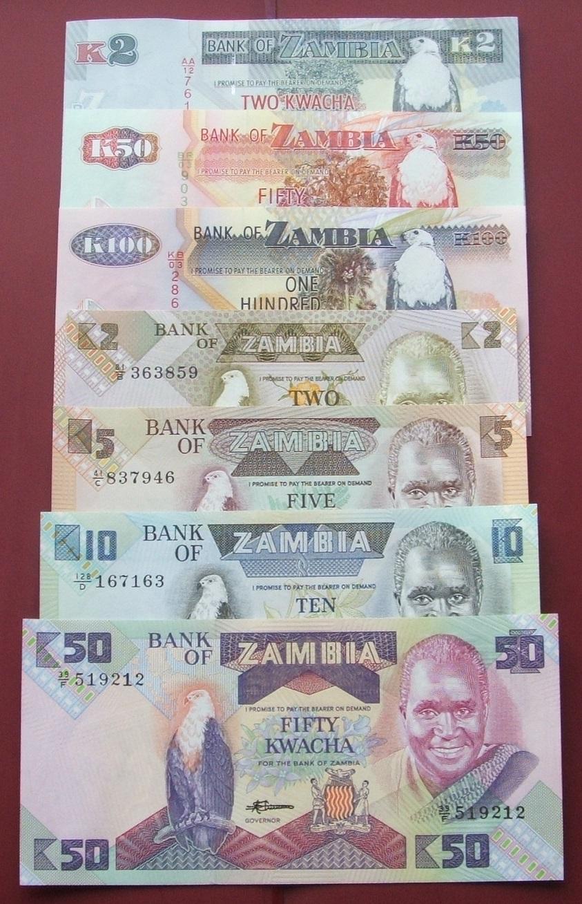 ZESTAW BANKNOTÓW ZAMBIA !!! UNC !!! AFRYKA