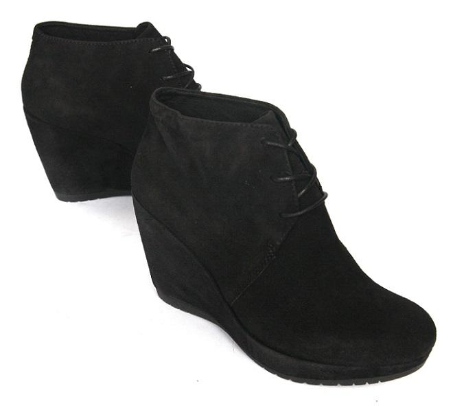 VAGABOND _ -25% nubuk kožený retro členková obuv klin