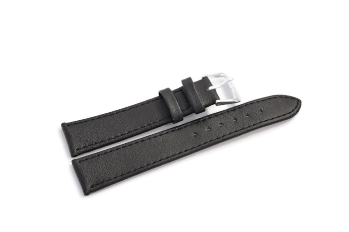 Item LEATHER watch STRAP LEATHER, 18mm, SILVER