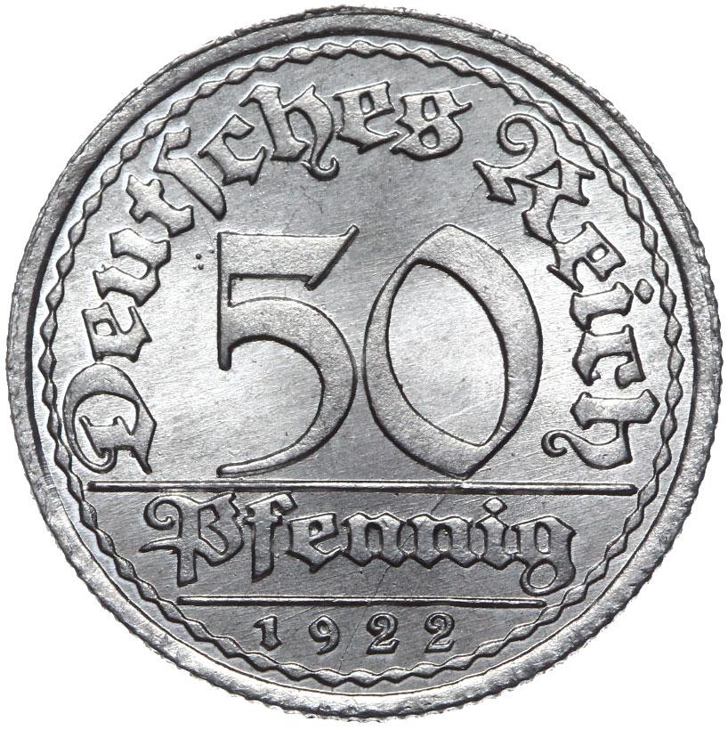 Nemecko - 50 pfennig 1922 e - kino s rolkom