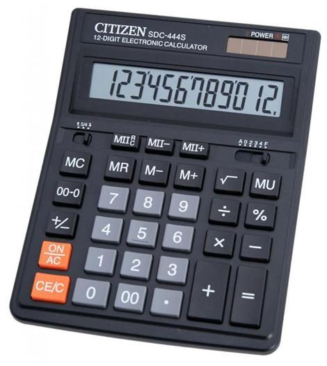 Item LARGE OFFICE CALCULATOR CITIZEN SDC-444S INTEREST