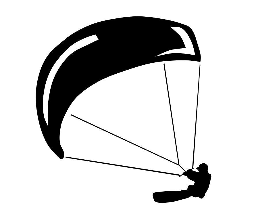 Nálepka pre auto Kitesurfing Water Sports