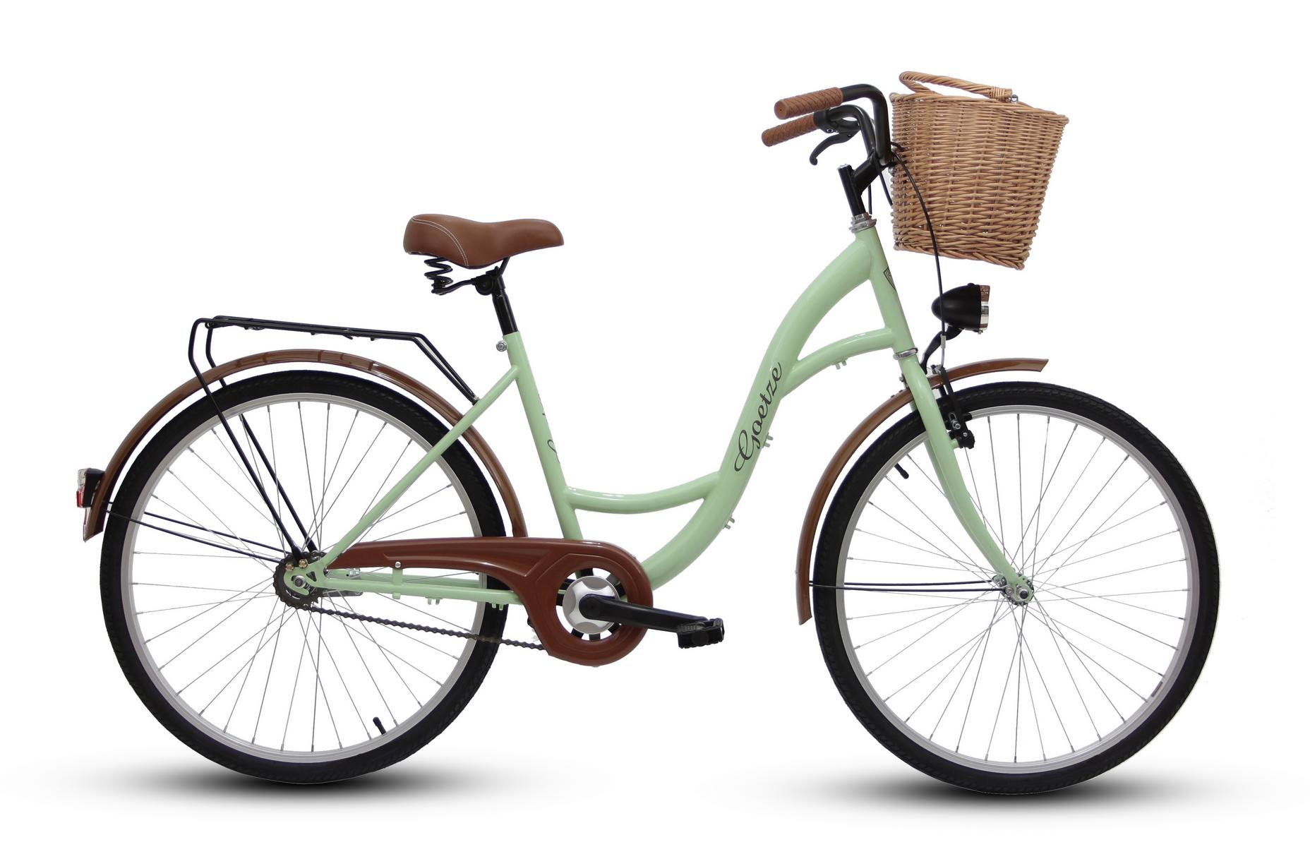 "Dámsky mestský bicykel GOETZE 26 eco lady + košík !!!  Veľkosť kolies ("") 26"