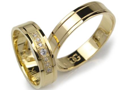 Item GOLDRUN GOLD wedding RING 5MM PAIR L051