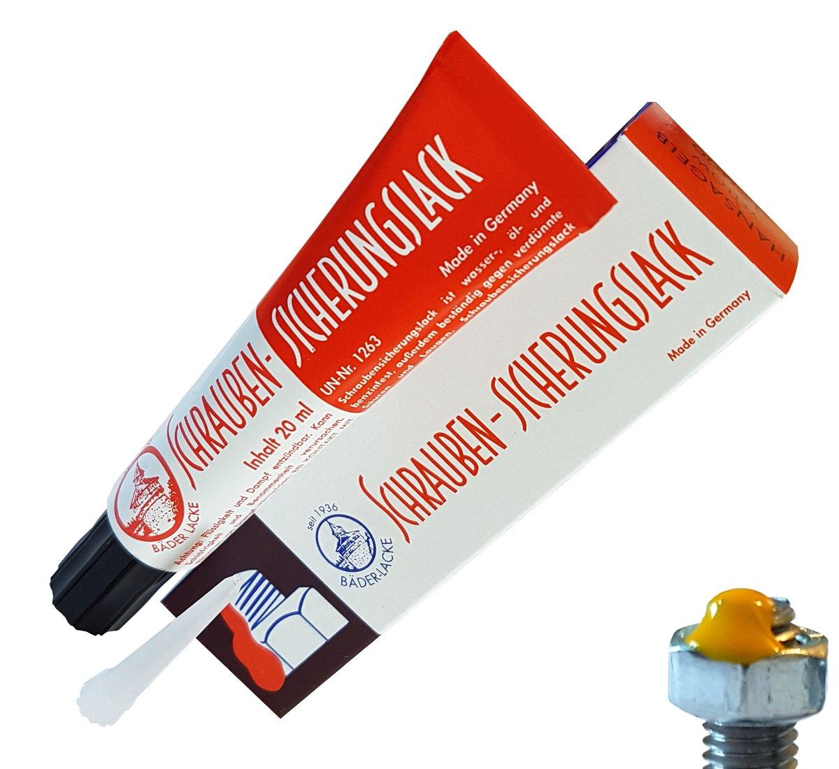 Уплотнение безопасности для винтов желтого лака 20ml