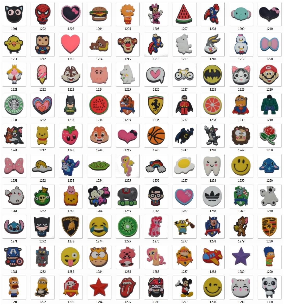 zegarek różne style buty na codzień Gadżet - Przypinki do Crocs - ponad 1500 wzorów