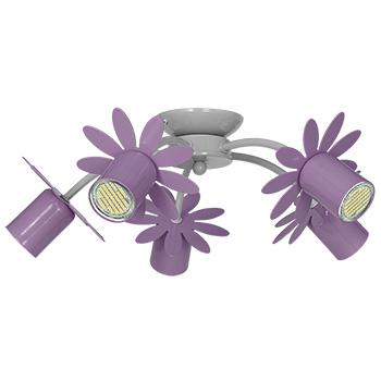 Decoland 7879 fialový Kvet Strop žiarovka GU10 ProdPL
