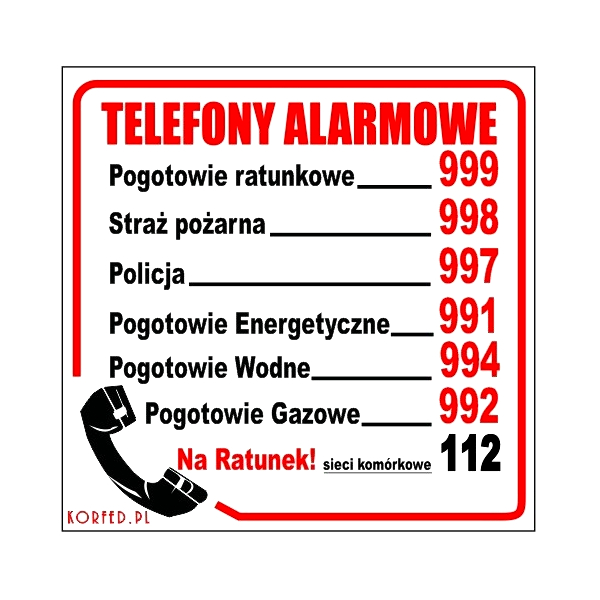 Tabletové telefóny Alarm Numbers Infographics