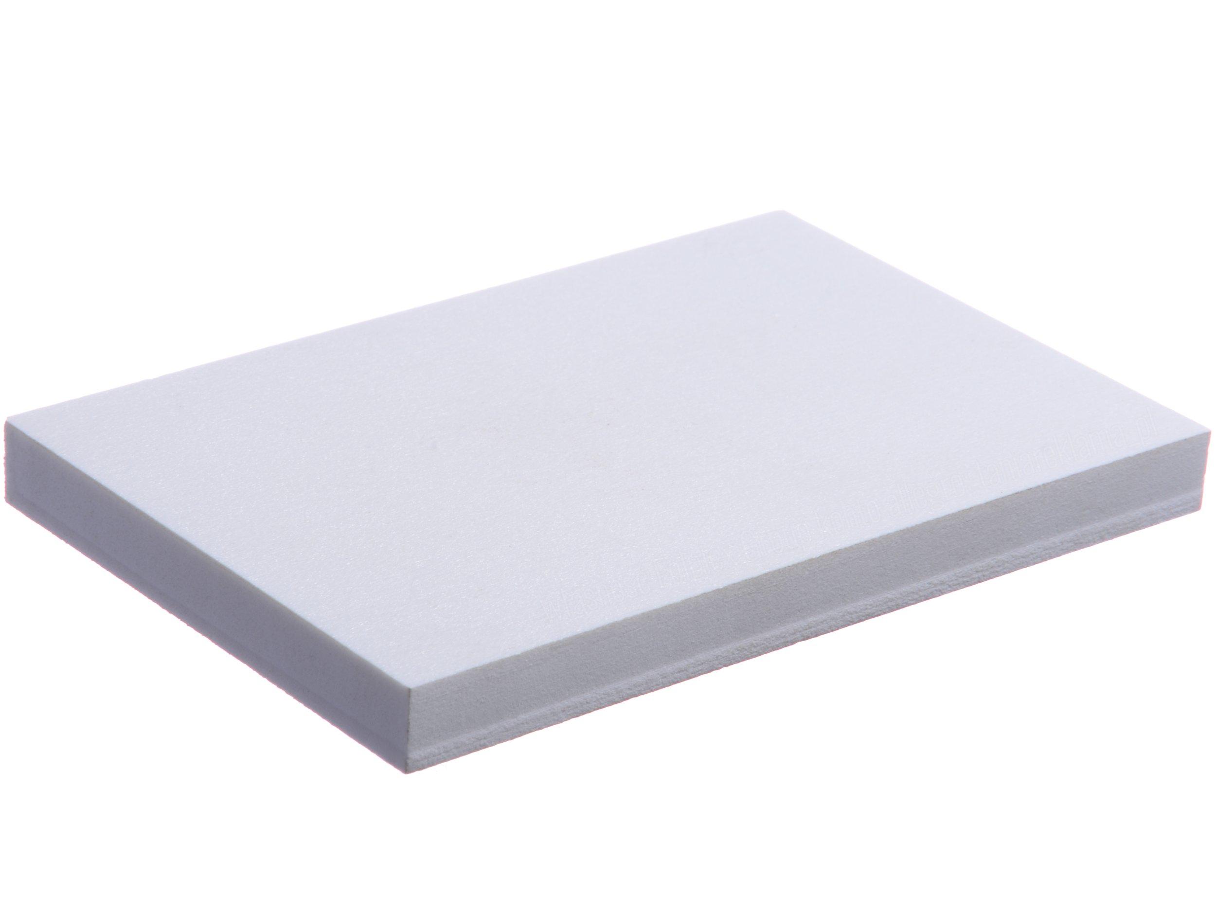 PVC penatá biela - 1 mm - na veľkosť