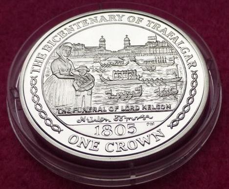 Isle of Man 1 Crown 2005 Trafalgar 1