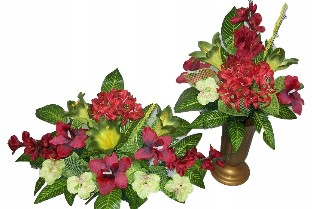 Kvety na hrob SET = ZLOŽENÍ + DVE KYTICE