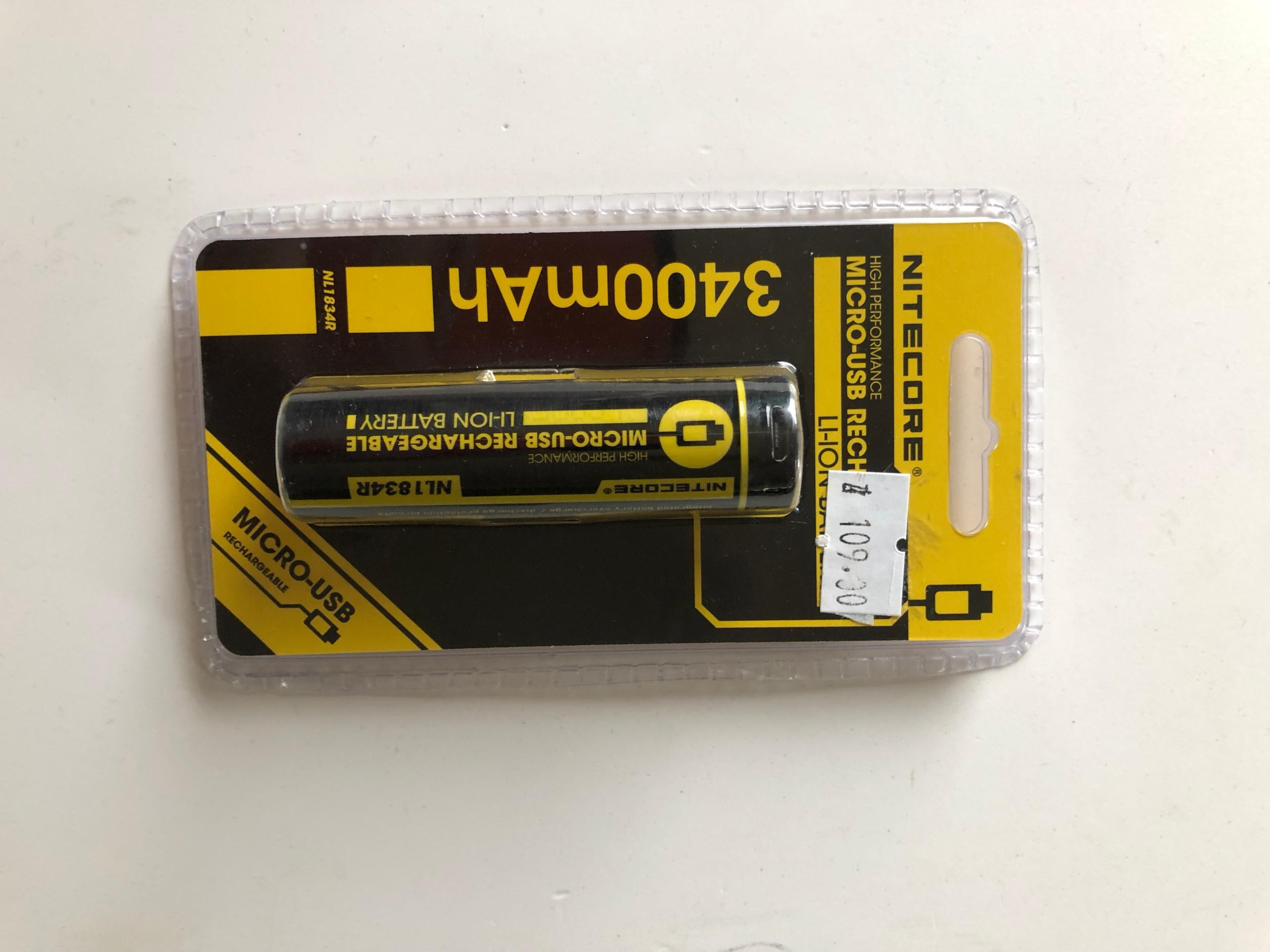 Batéria Nitecore USB 3400 mAh