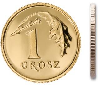 1 gr grosz 1993 mennicza mennicze z woreczka