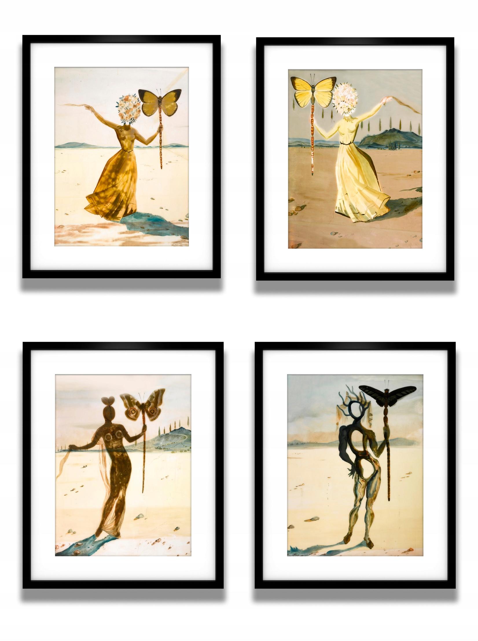 Salvador Dali Motylice Plakaty W Ramach Piękne
