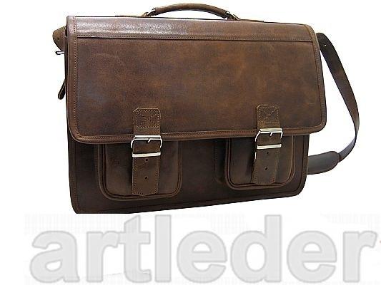 Aktovka LAPTOP taška 17 retro poľská koža