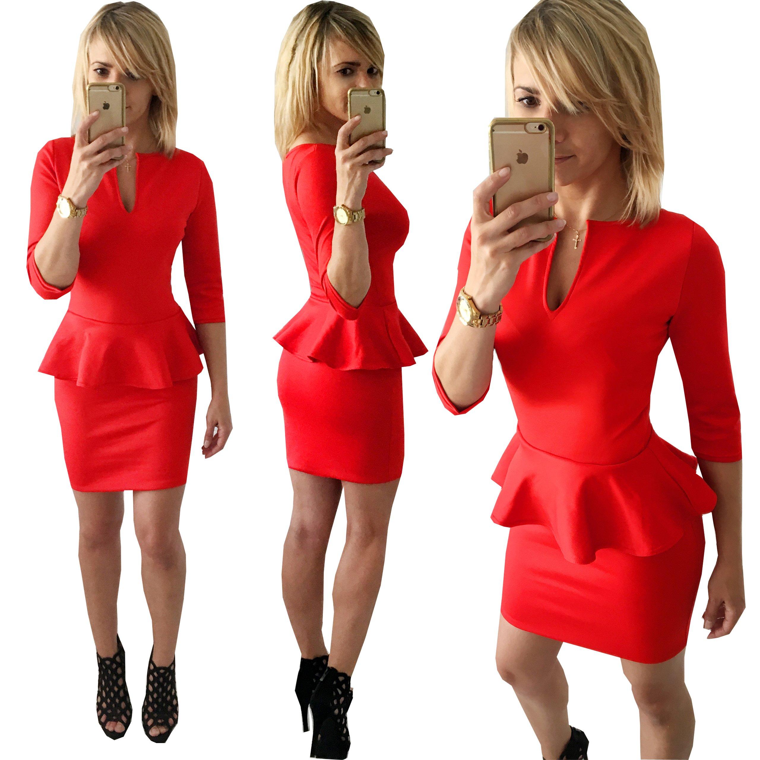 JustCute Modna Sukienka Z Baskinką 18 Kolorów L/XL