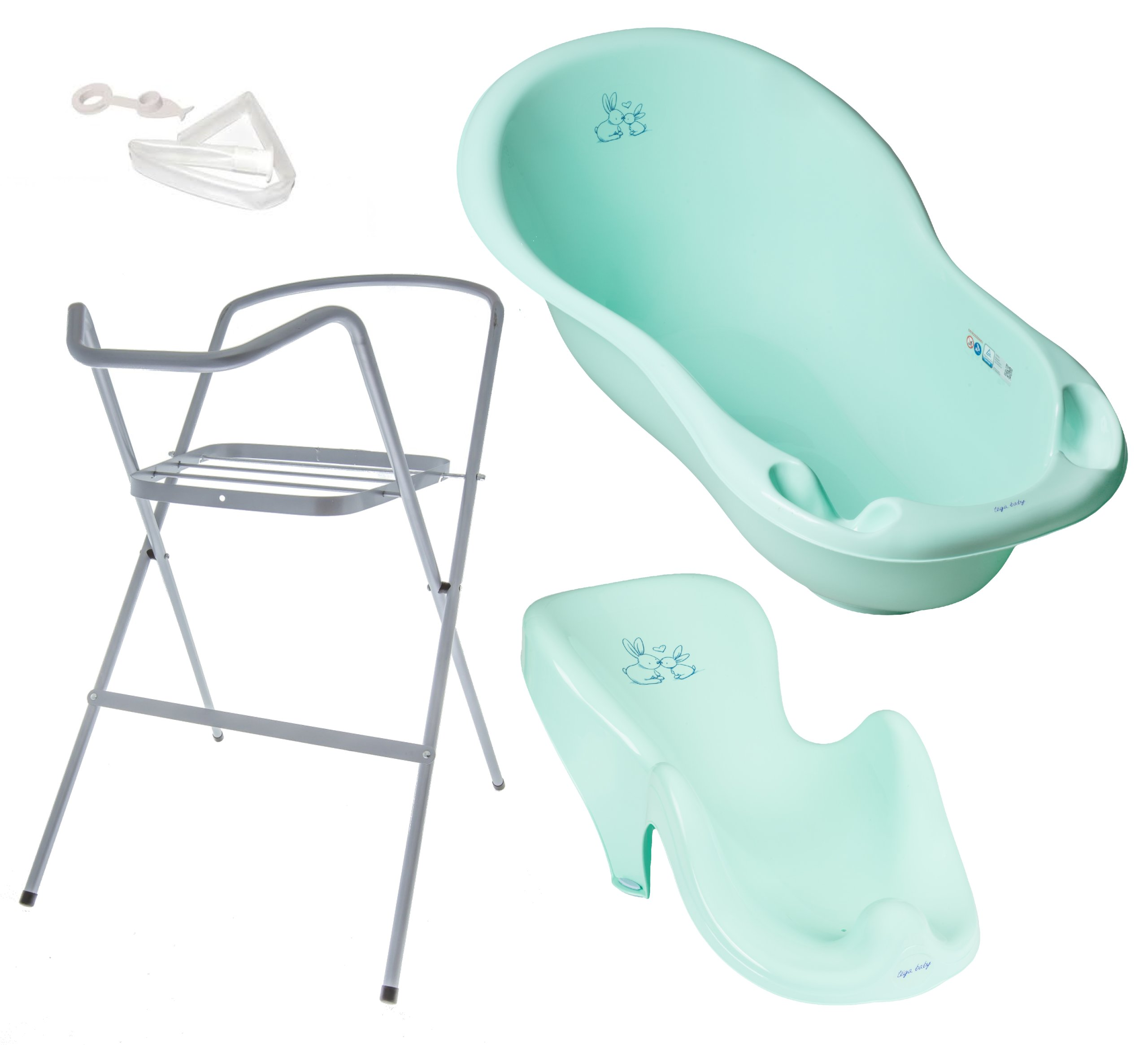 Item Baby BATH 102, the OUTFLOW THERMOMETER STAND Tega CHILD seat